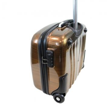 чемодан пластиковый, пилот-кейс (янтарь)
