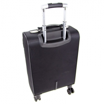 чемодан ручная кладь на 4-х съёмных колесах (черный)