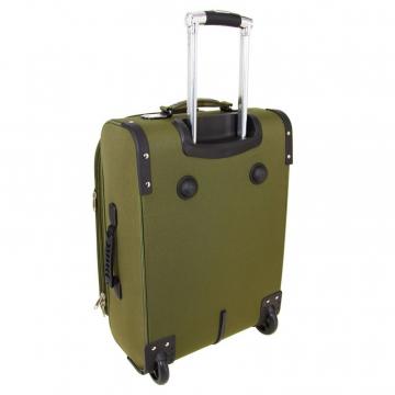 чемодан на двух колесах текстильный хаки