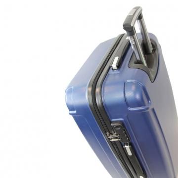 чемодан пластиковый на 4-х колёсах, 91 литр (синий)