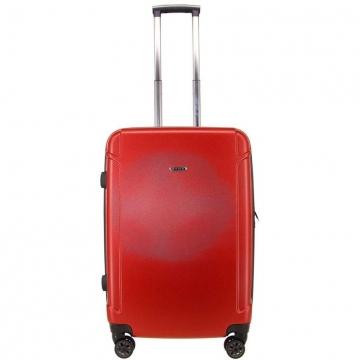 чемодан пластиковый на 4-х колёсах, 91 литр (красный)