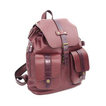 бордовый кожаный рюкзак «бордовый топаз»