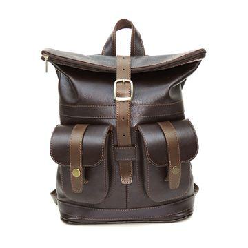 коричневый кожаный рюкзак «клэр» формат а4