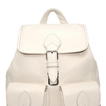 рюкзак женский кожаный светлый «лаура»