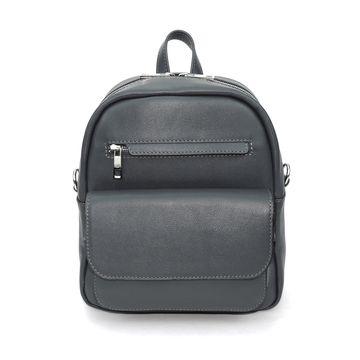 рюкзак-сумка кожаный серый «треви»