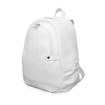 белый рюкзак кожаный «веста»