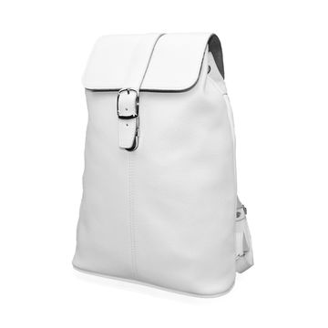 кожаный женский дизайнерский рюкзак «ева» (белый)