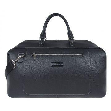 сумка дорожная из натуральной кожи (чёрная)