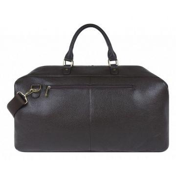 сумка дорожная из натуральной кожи (коричневая)
