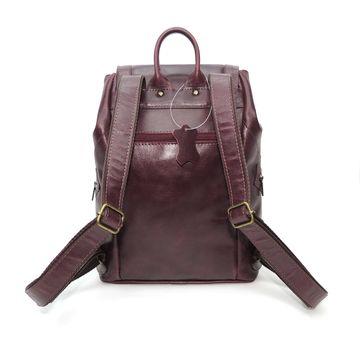 рюкзак кожаный вишневый «климин» формат а4