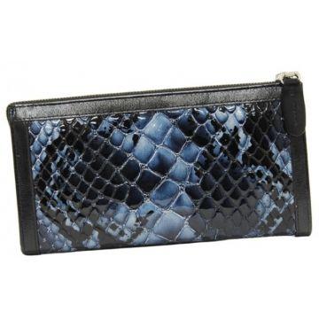 женский кошелек из натуральной кожи 0-441-49 л кр син