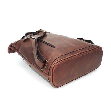 коричневый кожаный рюкзак «венлинг» под формат а4