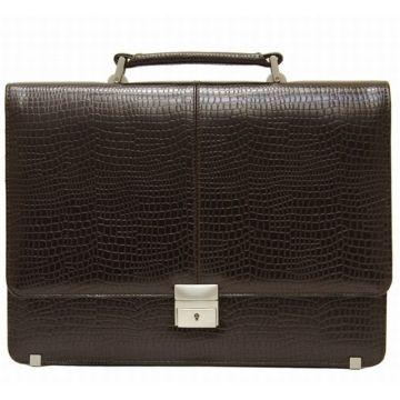 мужская папка-портфель из натуральной кожи 8-015кВ скат кр кор
