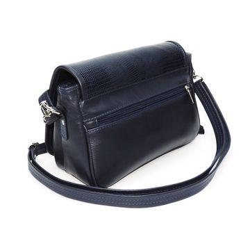 сумка женская из натуральной кожи юния (синяя)