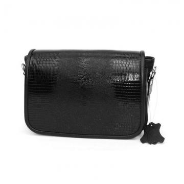сумка женская кожаная чёрная «танис»