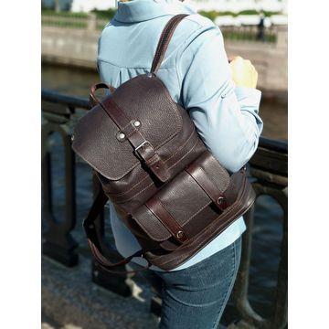 кожаный рюкзак коричневый «шоколад»