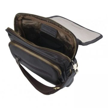 мужская сумка-планшет через плечо из натуральной кожи