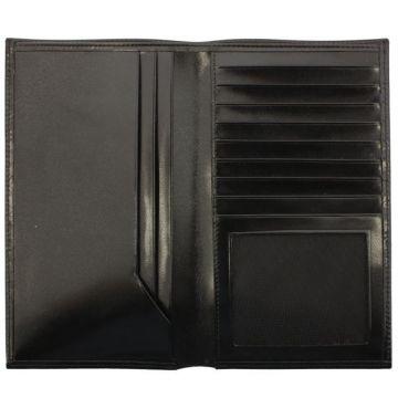 мужской кожаный кошелек (черный) 0-234В шик