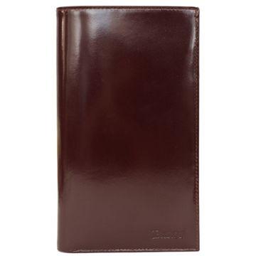 мужской кожаный кошелек (бордовый) 0-234В шик бордо
