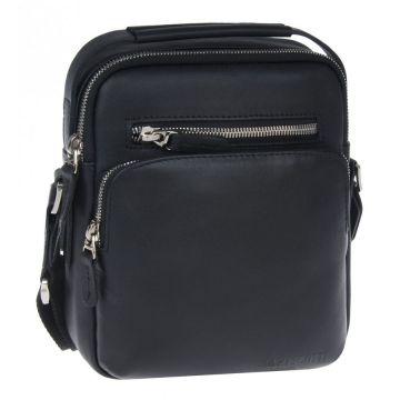 мужская сумка-планшет через плечо кожаная