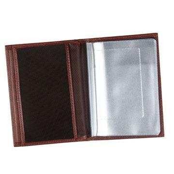 обложка для паспорта и автодокументов (коричневая)