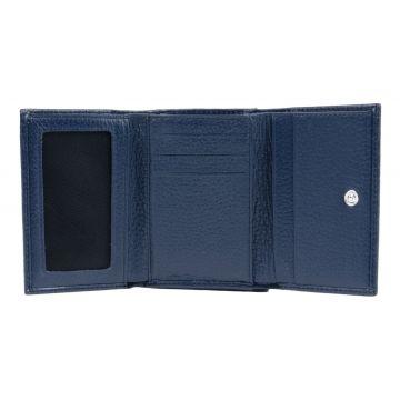 женский кожаный кошелек (синий) 0-243С флS кайман син