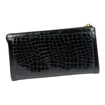 женский кожаный кошелек (черный) 0-441-88 л кр