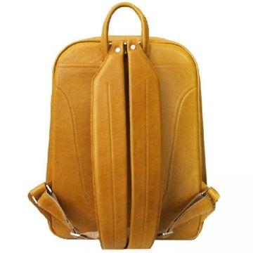 большой мужской кожаный рюкзак (табачно-желтый)