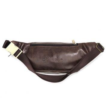 поясная сумка кожаная церес (коричневая)
