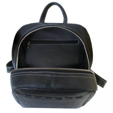 городской рюкзак из натуральной кожи (черный)