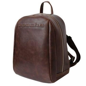 городской рюкзак из натуральной кожи (коричневый)