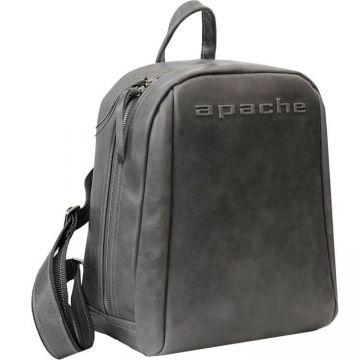 городской рюкзак из натуральной кожи (серый)