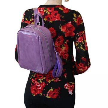женский рюкзак из натуральной кожи (сиреневый)