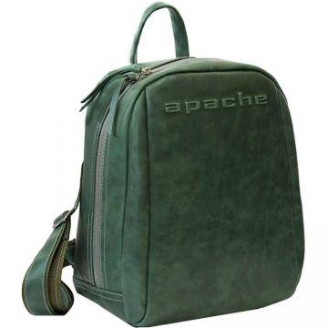 городской рюкзак из натуральной кожи (зеленый)