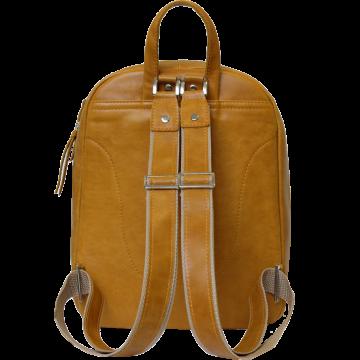 городской рюкзак из натуральной кожи (желтый)