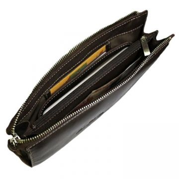 мужской клатч с ручкой-петлей БМ-А коричневый