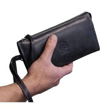 мужской клатч с ручкой-петлей БМ-А черный