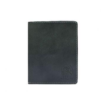небольшой мужской кошелек без монетника ВП-А черный