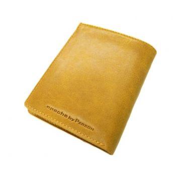 небольшой мужской кошелек без монетника ВП-А желтый