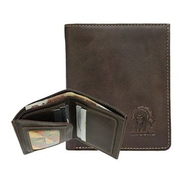 небольшой мужской кошелек без монетника ВП-А коричневый