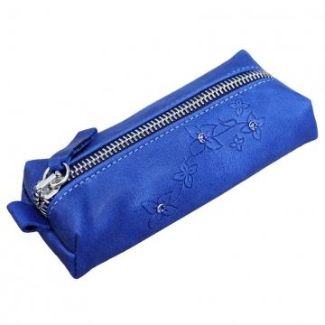 ключница из натуральной кожи (синяя)