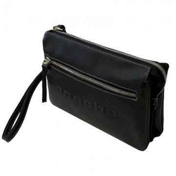 мужская сумка-клатч из натуральной кожи (черная)
