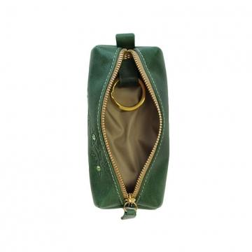 ключница из натуральной кожи (зелёная)