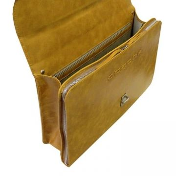 портфель деловой из натуральной кожи (желтый) ПД-9413-А желтый