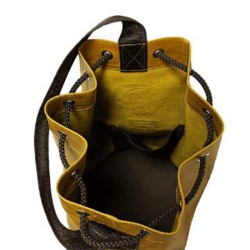 мужская сумка мешок из натуральной кожи (желтая)