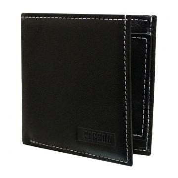квадратный мужской кошелек К-10 черный
