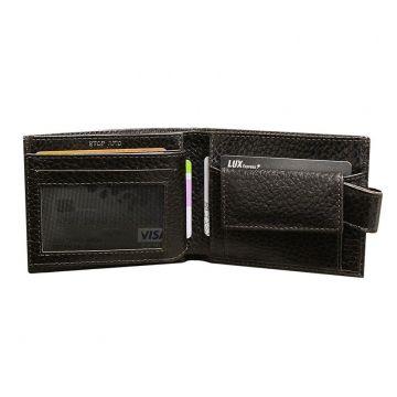 кошелек мужской с rfid защитой РОНИ-PS коричневый
