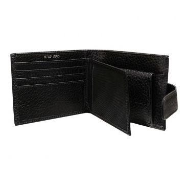 кошелек мужской с rfid защитой РОНИ-PS черный