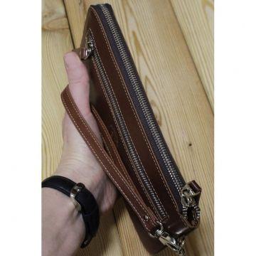 мужской клатч с rfid защитой ФРТ-S коричневый