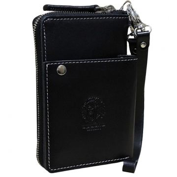 мужской кошелек на молнии МК-S-9 черный